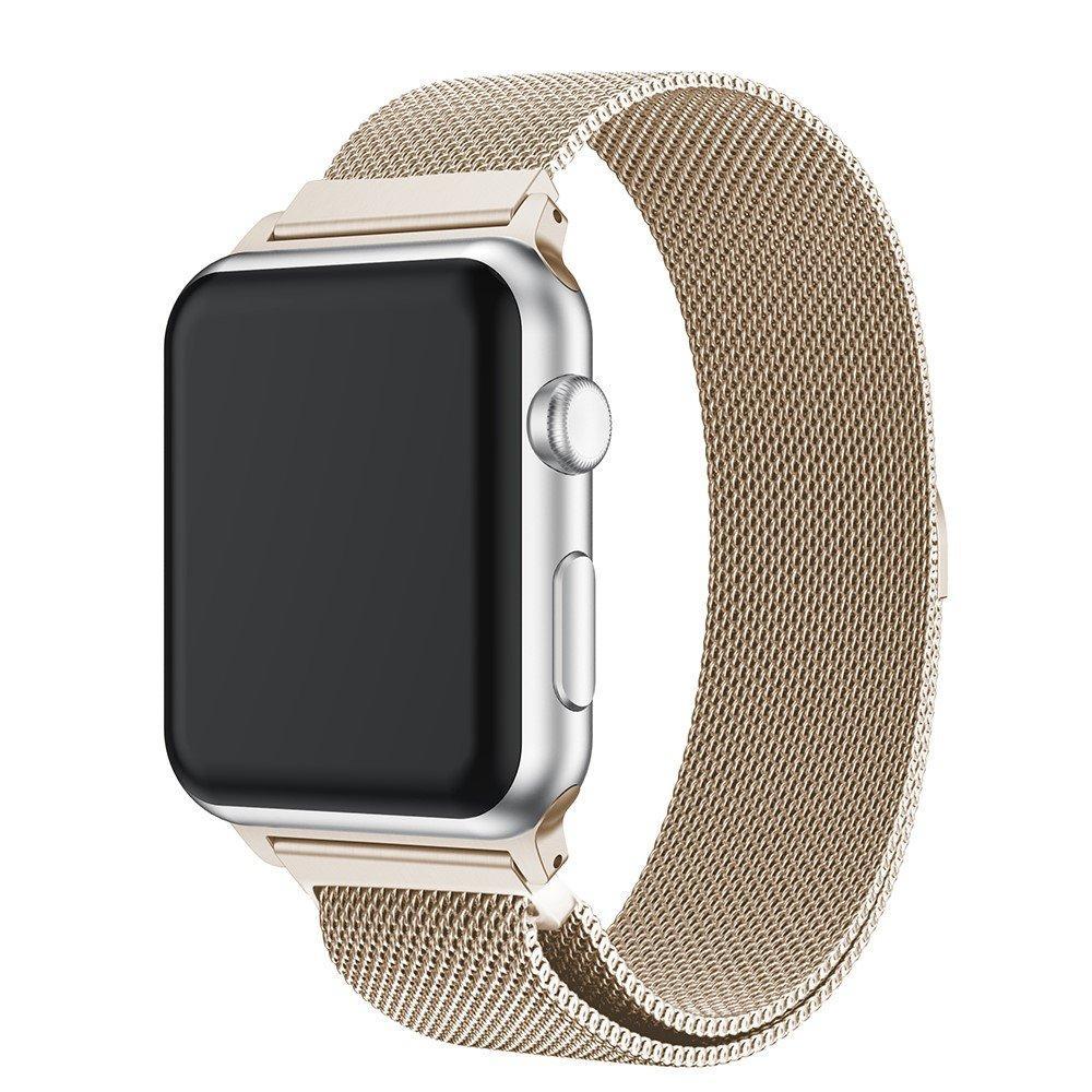 Ranneke Milanese Loop Apple Watch 42/44/45 mm samppanja kulta