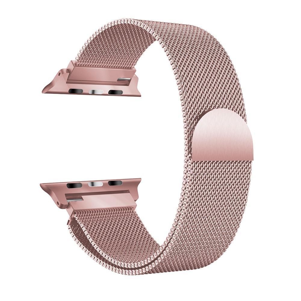 Ranneke Milanese Loop Apple Watch 42/44/45 mm vaaleanpunainen kulta