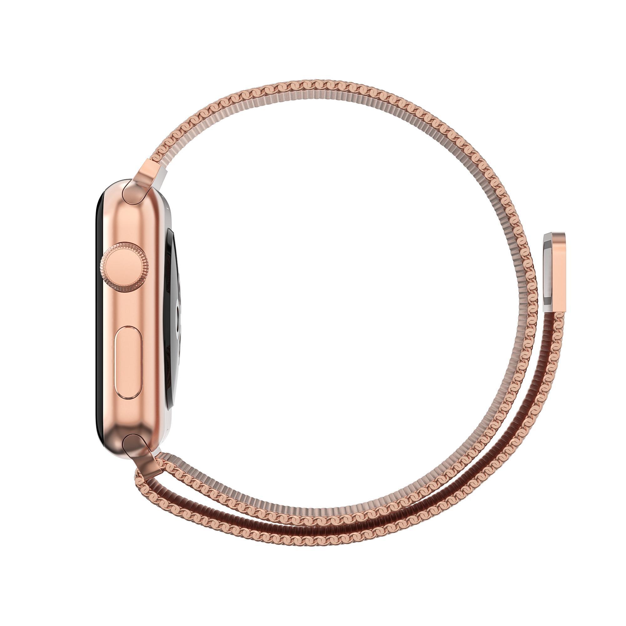 Ranneke Milanese Loop Apple Watch 42/44/45 mm ruusukulta