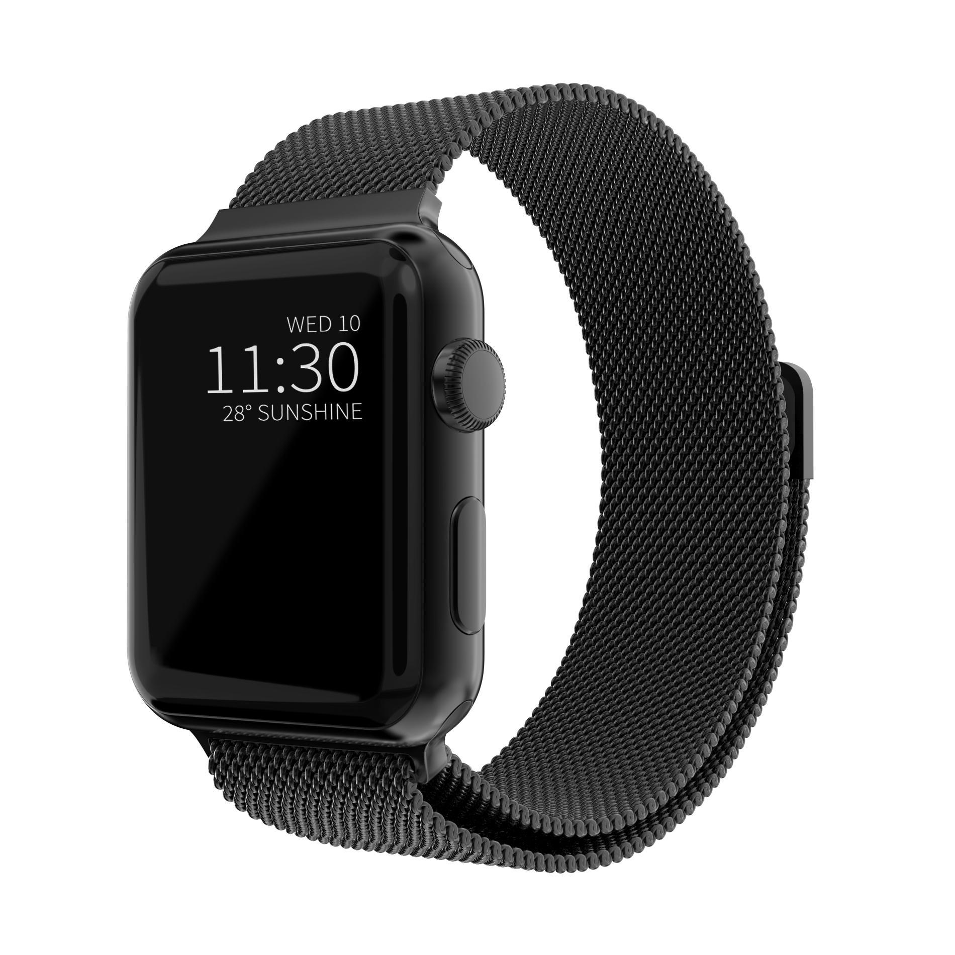 Ranneke Milanese Loop Apple Watch 42/44/45 mm musta