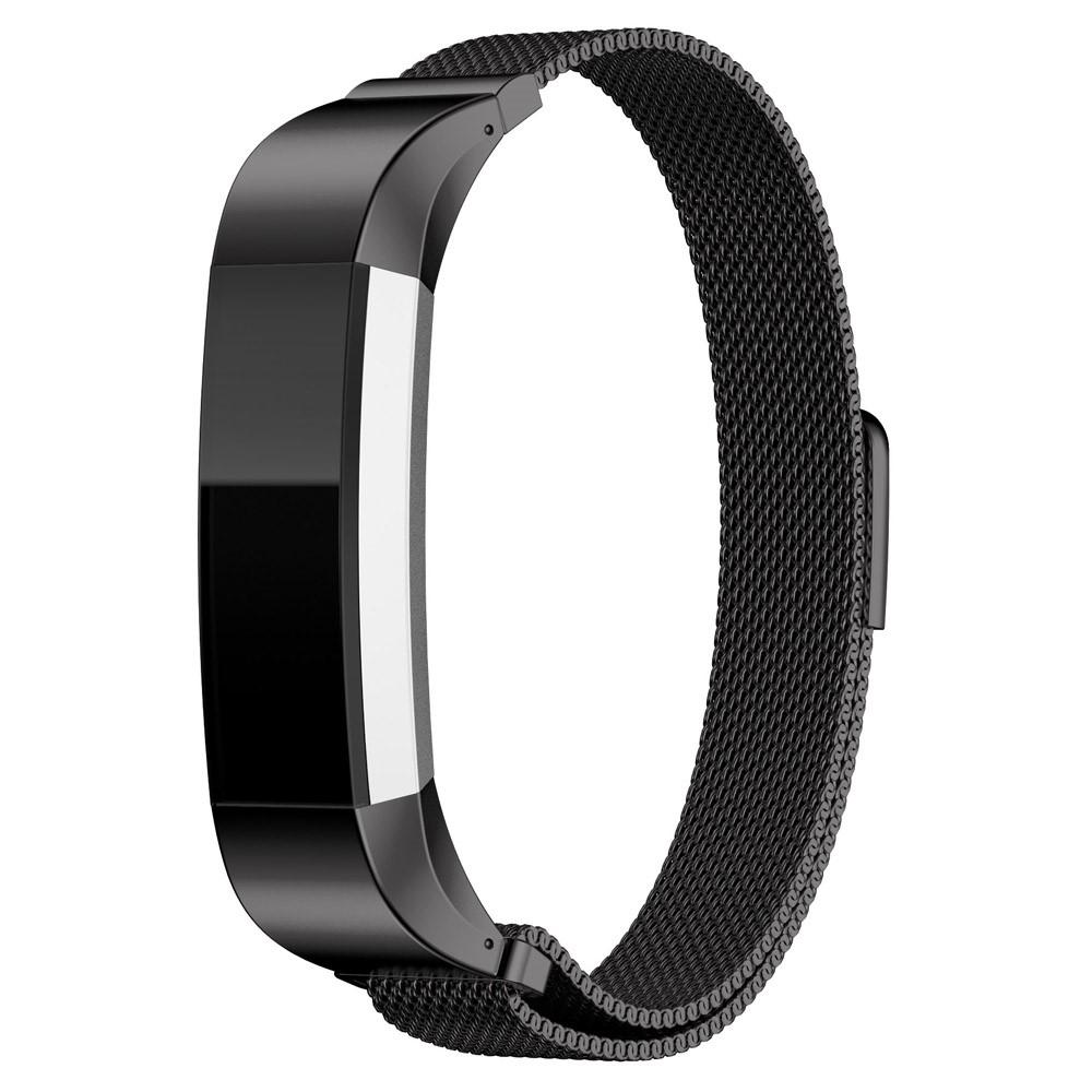 Ranneke Milanese Loop Fitbit Alta/Alta HR musta