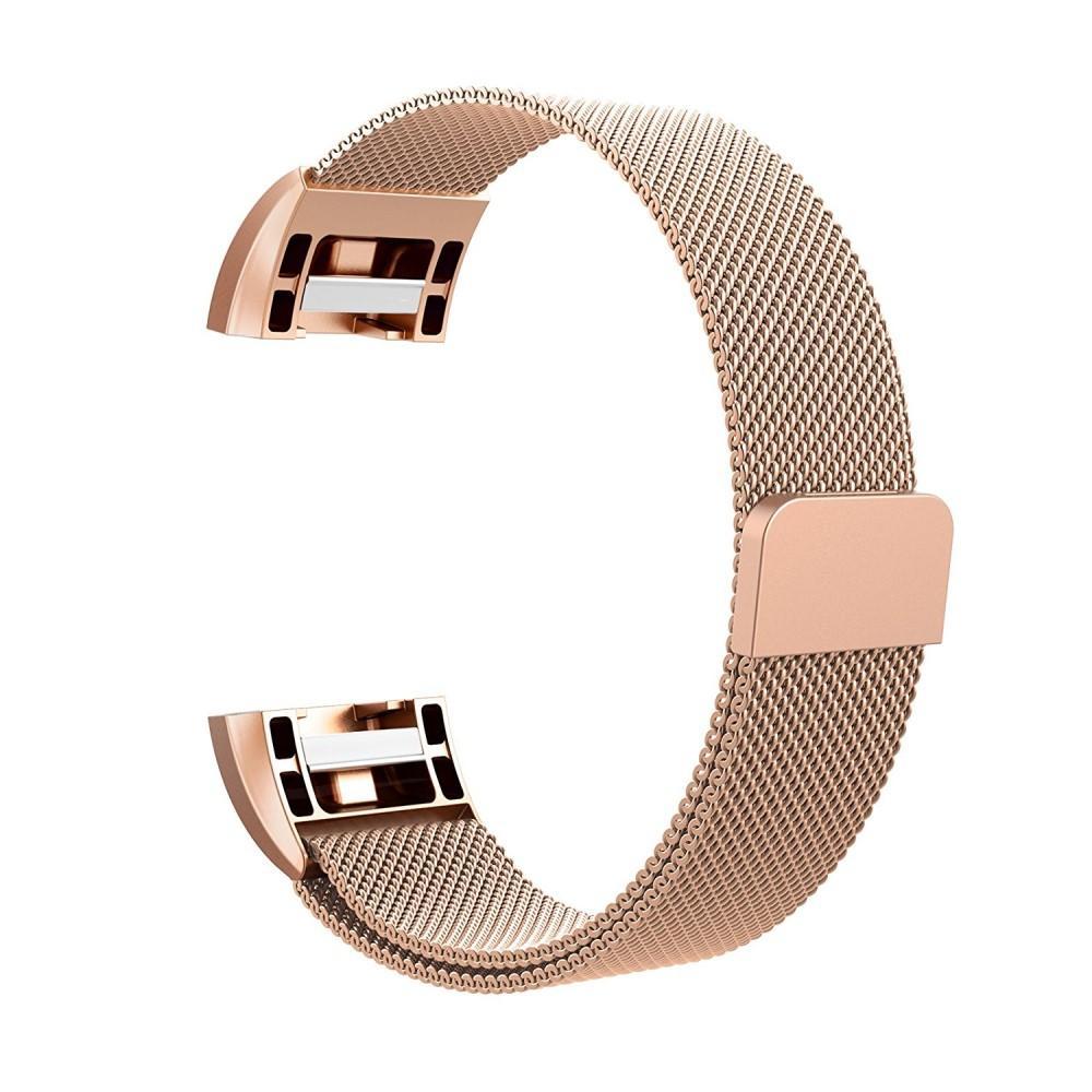 Ranneke Milanese Loop Fitbit Charge 2 ruusukulta