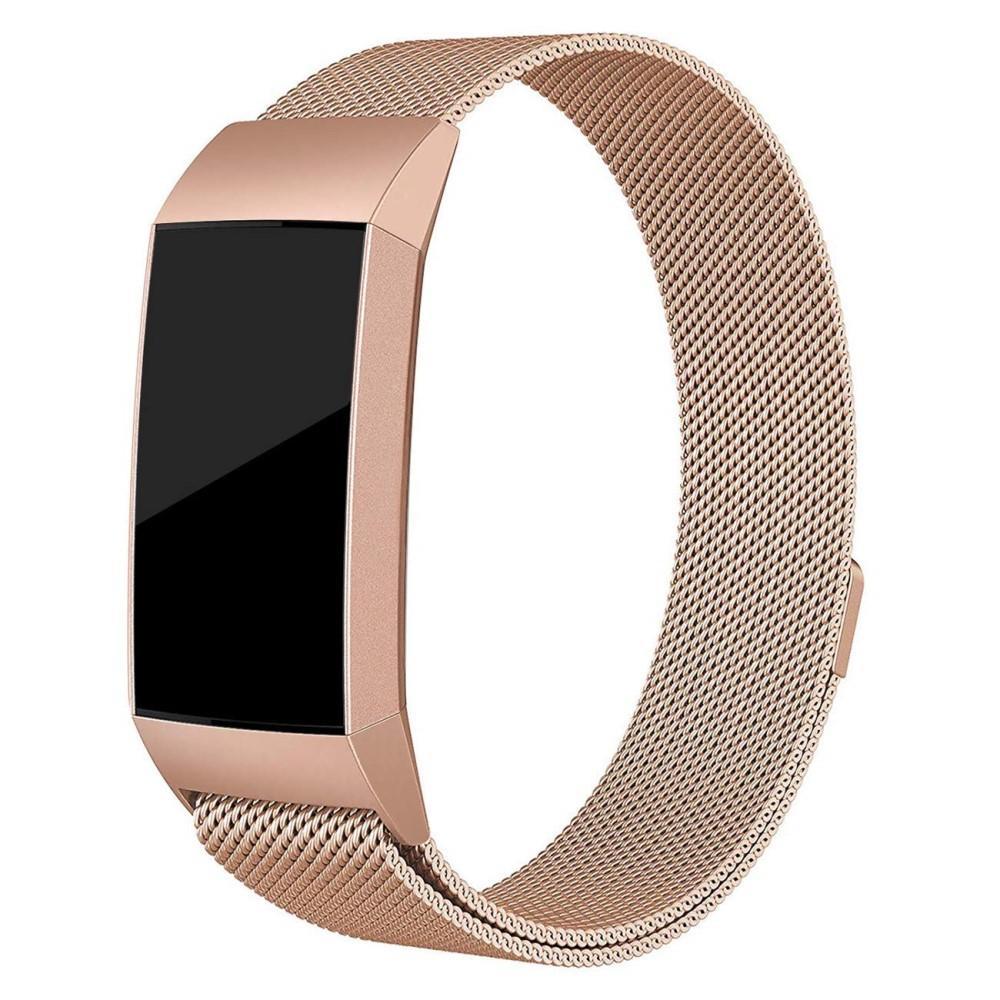 Ranneke Milanese Loop Fitbit Charge 3/4 ruusukulta