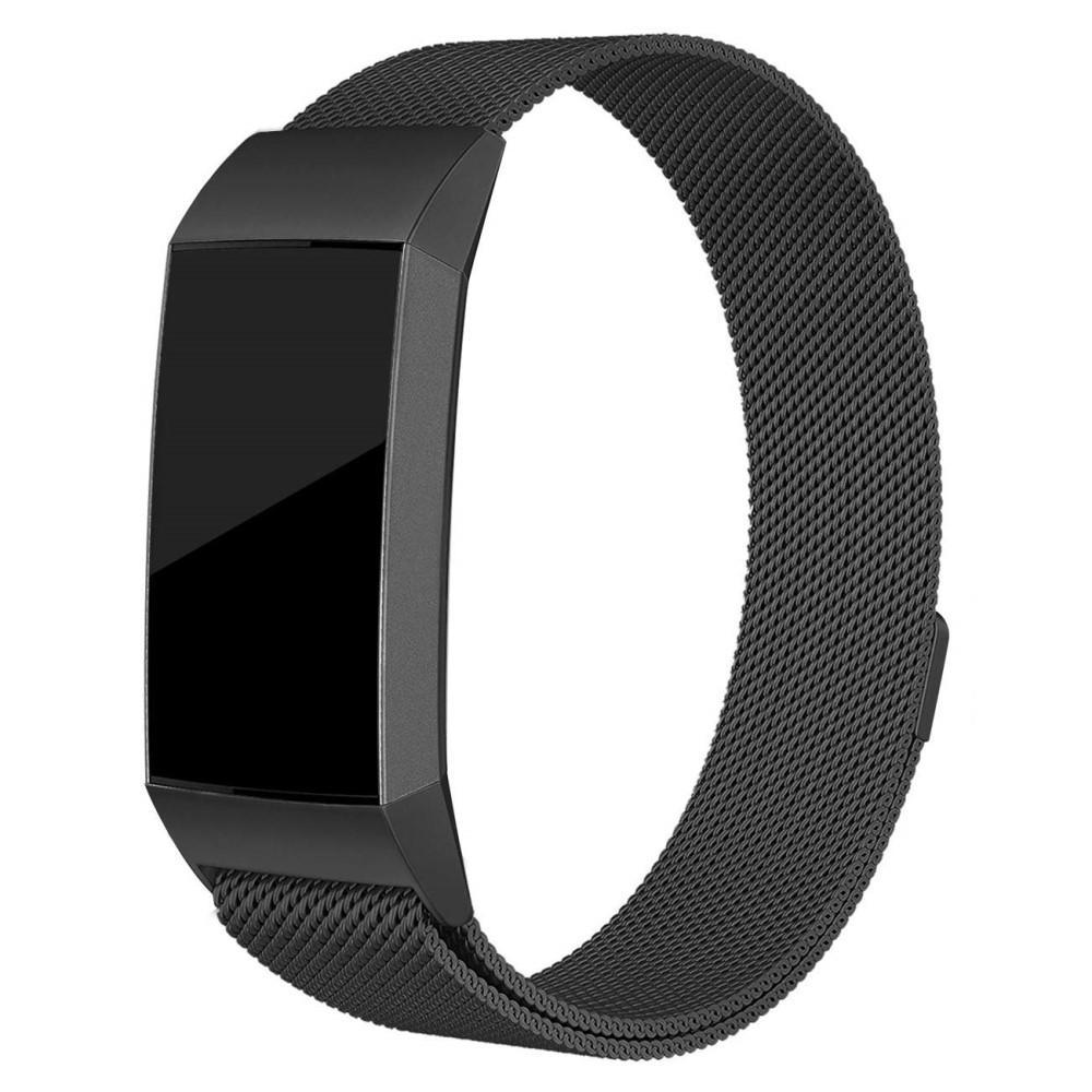 Ranneke Milanese Loop Fitbit Charge 3/4 musta
