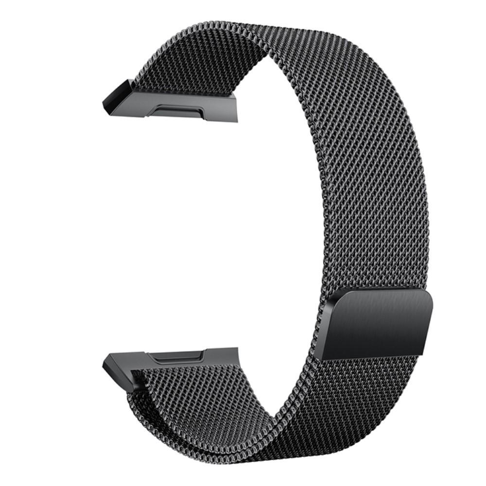 Ranneke Milanese Loop Fitbit Ionic musta