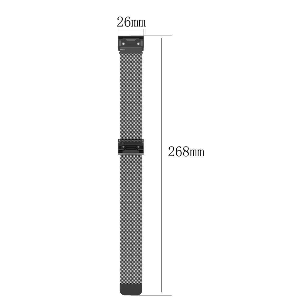 Ranneke Milanese Loop Garmin Fenix 3/3 HR/5X/5X Plus/6X/6X Pro musta