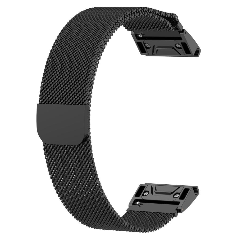 Ranneke Milanese Loop Garmin Fenix 5/5 Plus/6/6 Pro musta