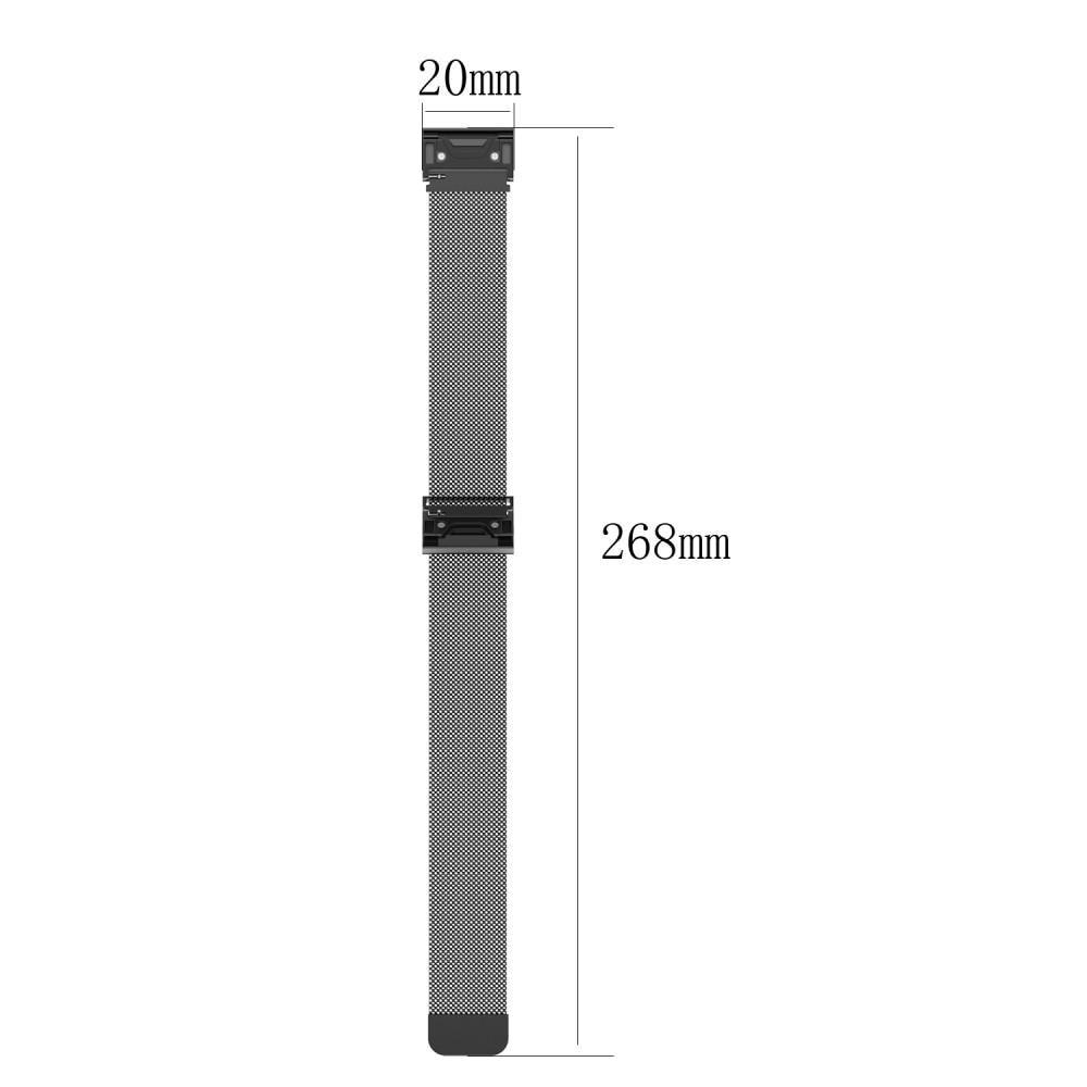 Ranneke Milanese Loop Garmin Fenix 5S/5S Plus/6S/6S Pro hopea