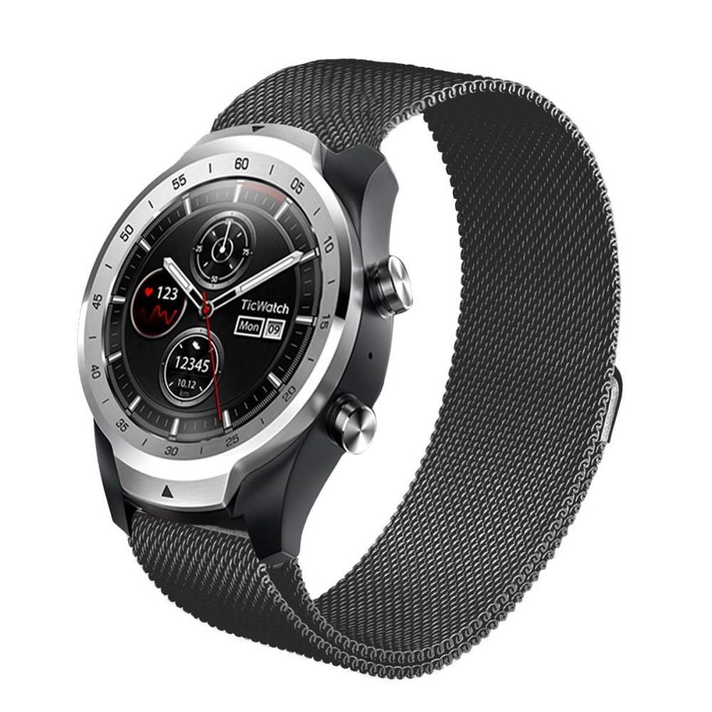 Ranneke Milanese Mobvoi Ticwatch Pro/S2/E2 musta