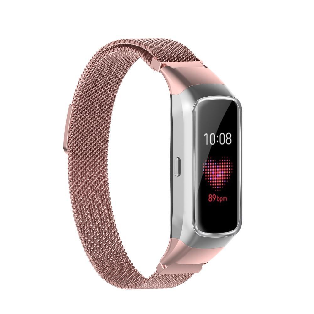 Ranneke Milanese Samsung Galaxy Fit vaaleanpunainen kulta