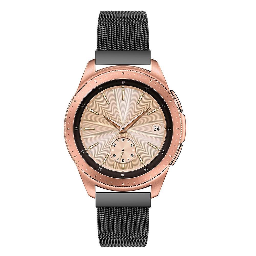 Ranneke Milanese Samsung Galaxy Watch 42mm musta
