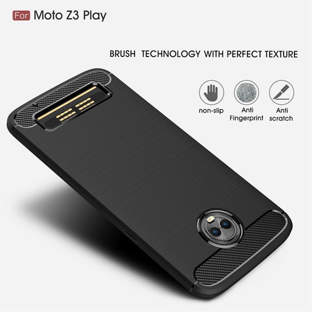 Brushed TPU Kuori for Moto Z3 Play black