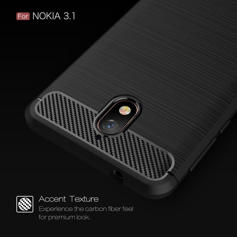 Brushed TPU Kuori for Nokia 3.1 black