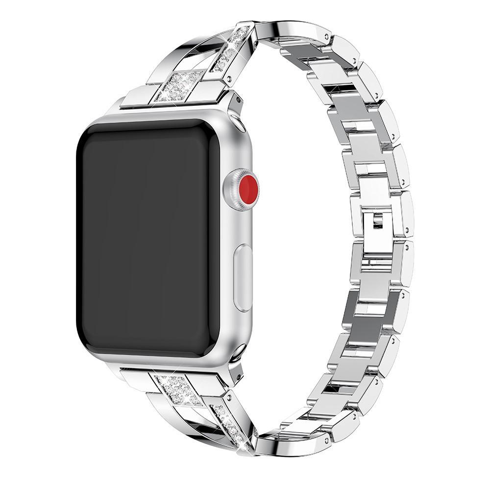 Crystal Bracelet Apple Watch 38/40/41 mm Silver