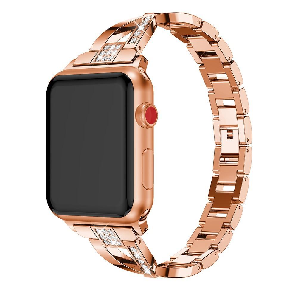 Crystal Bracelet Apple Watch 42/44/45 mm Rose Gold