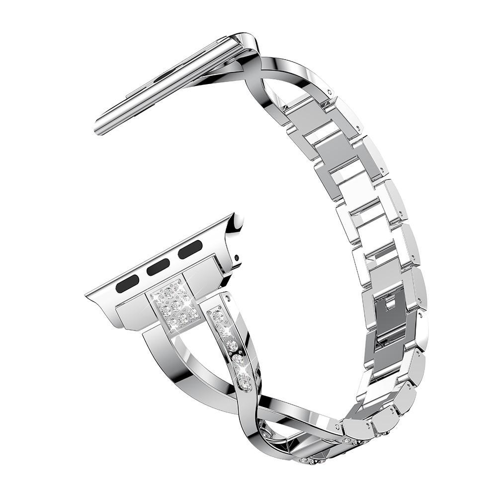 Crystal Bracelet Apple Watch 42/44/45 mm Silver