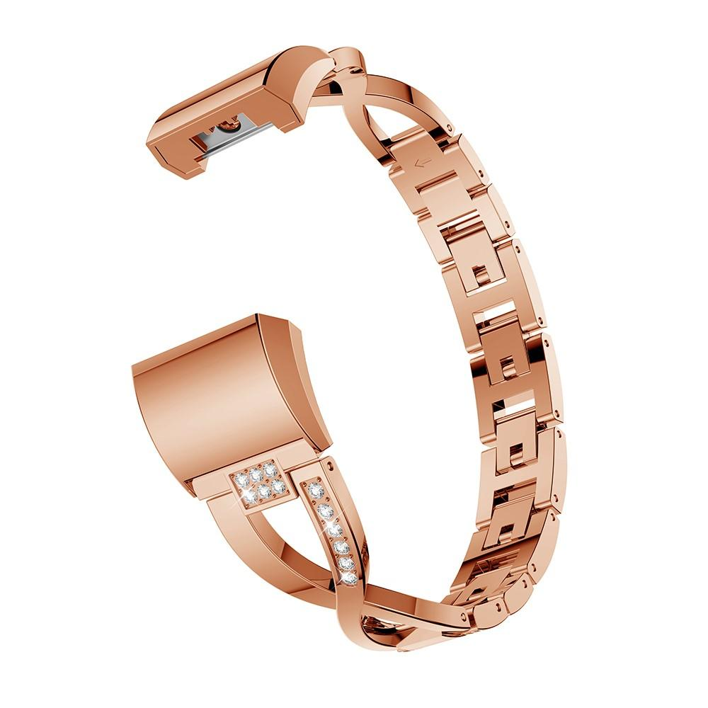 Crystal Bracelet Fitbit Charge 2 Rose Gold