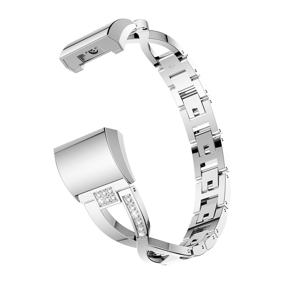 Crystal Bracelet Fitbit Charge 2 Silver