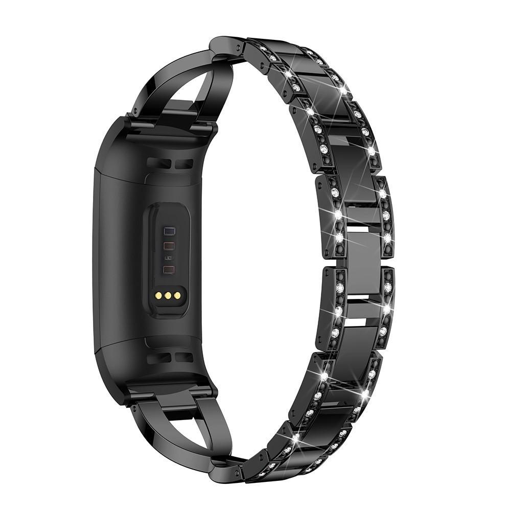 Crystal Bracelet Fitbit Charge 3/4 Black