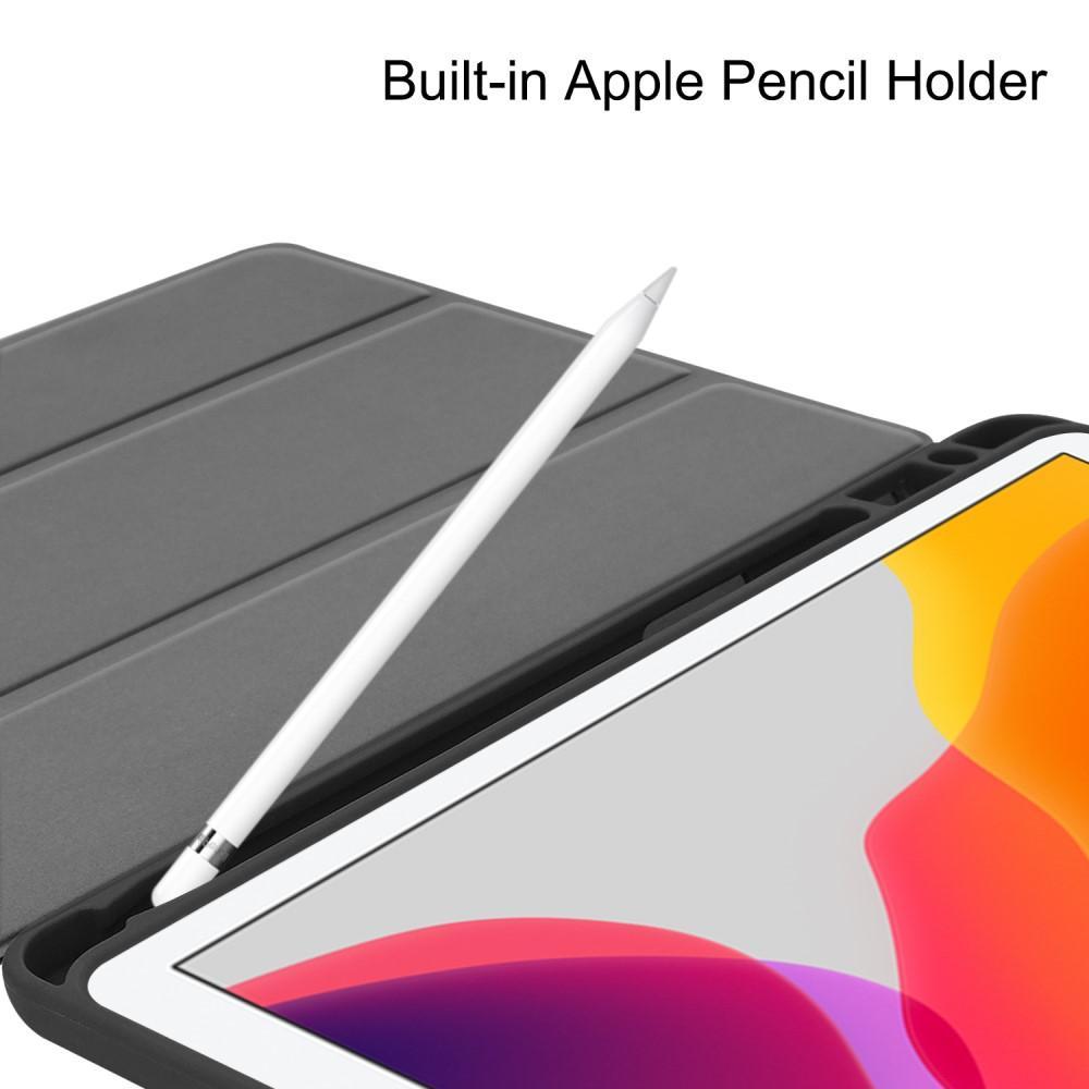 Kotelo Tri-fold Kynäpidikkeellä iPad 10.2 musta
