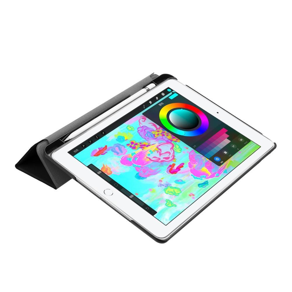 Kotelo Tri-fold Kynäpidikkeellä iPad 9.7 musta