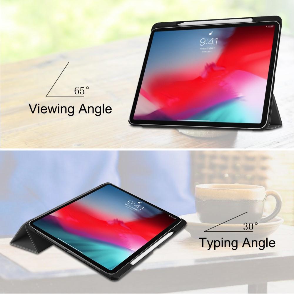 Kotelo Tri-fold Kynäpidikkeellä iPad Pro 11 musta