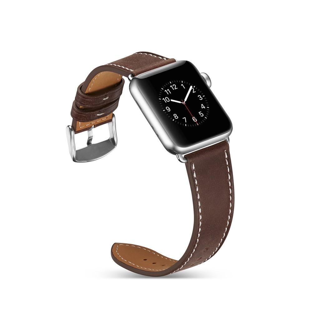 Nahkaranneke Apple Watch 38/40/41 mm ruskea