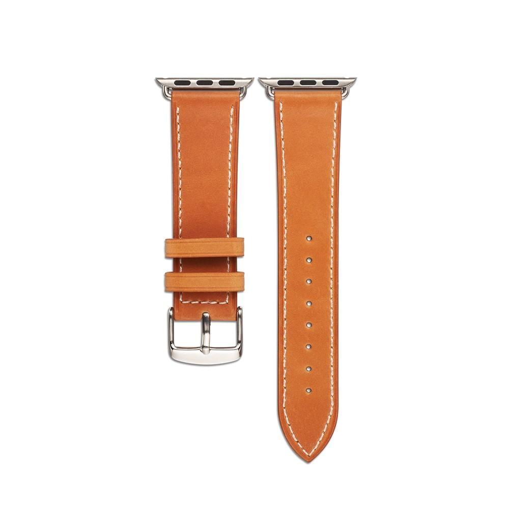 Nahkaranneke Apple Watch 38/40/41 mm cognac