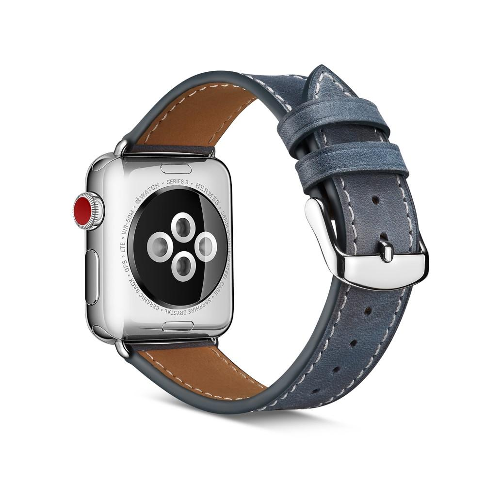 Nahkaranneke Apple Watch 42/44/45 mm sininen