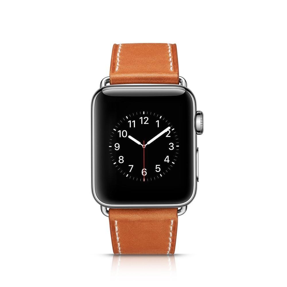 Nahkaranneke Apple Watch 42/44/45 mm cognac