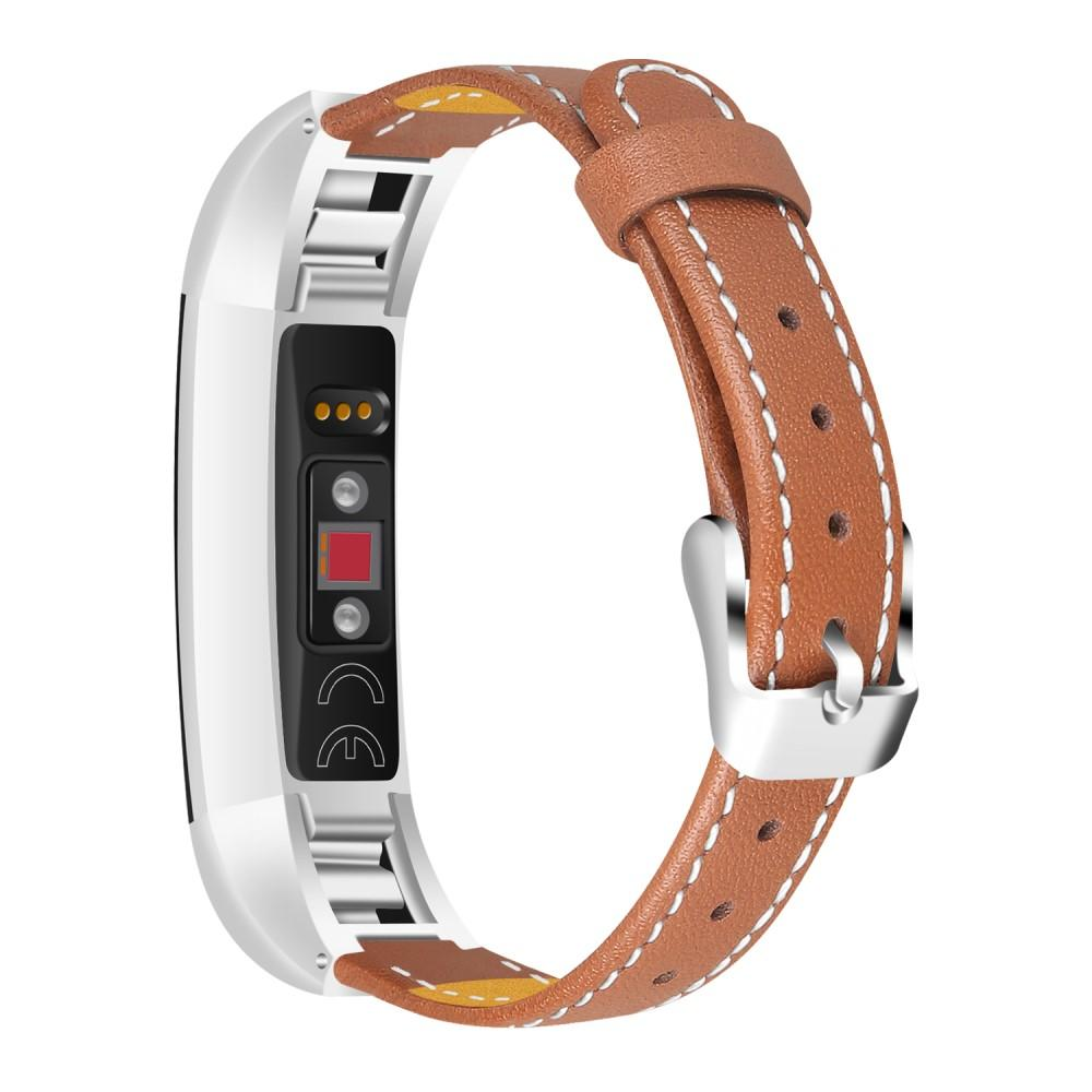 Nahkaranneke Fitbit Alta/Alta HR ruskea