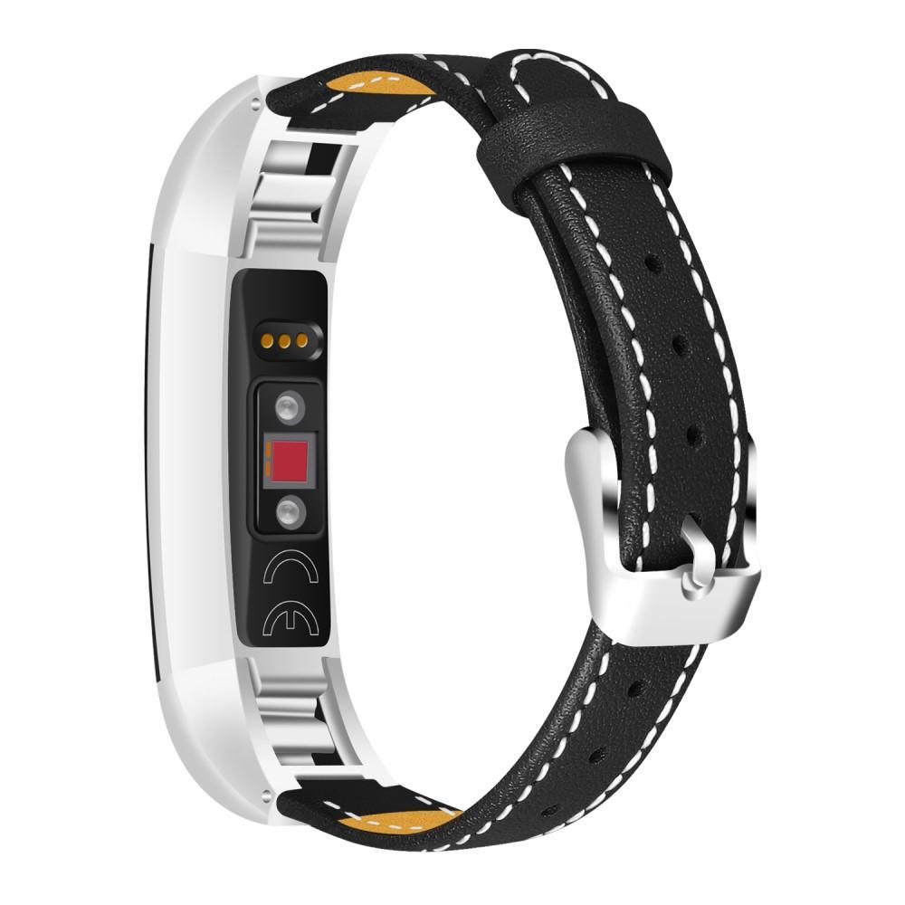 Nahkaranneke Fitbit Alta/Alta HR musta