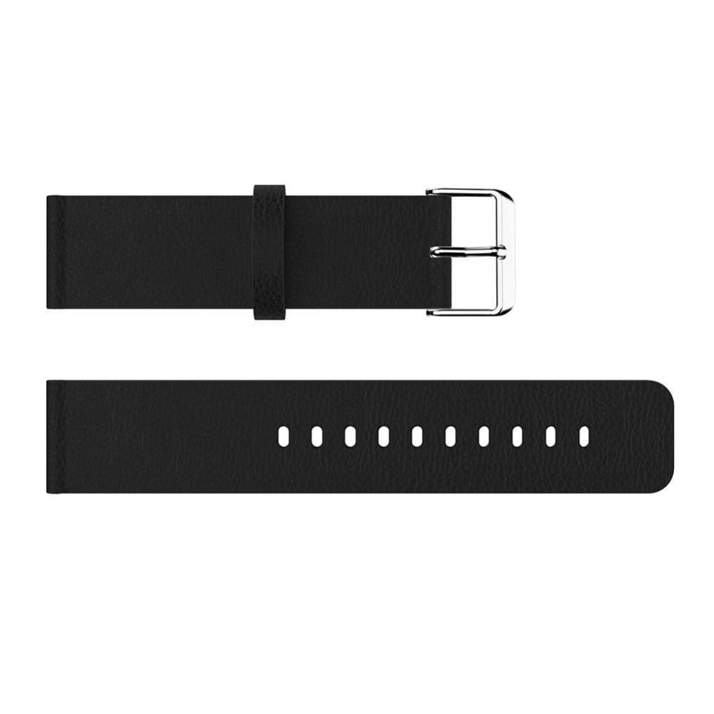 Nahkaranneke Fitbit Versa/Versa 2 musta