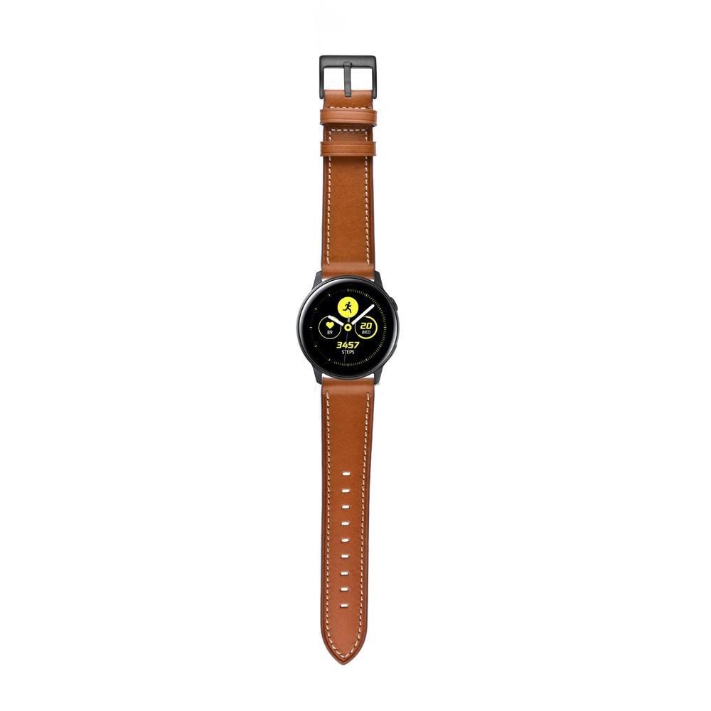 Nahkaranneke Galaxy Watch Active/42mm ruskea