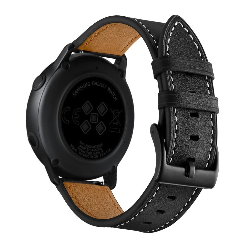 Nahkaranneke Galaxy Watch Active/42mm musta