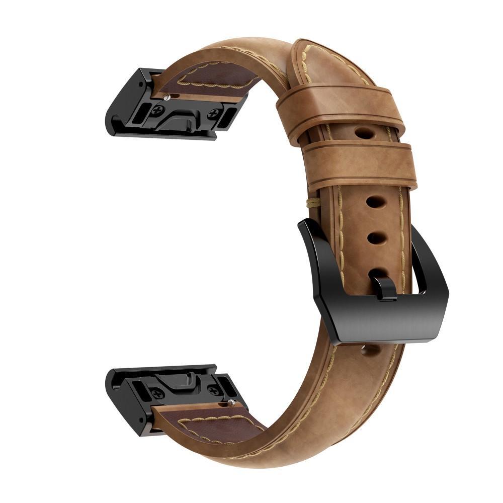Nahkaranneke Garmin Fenix 5X/5X Plus/6X/6X Pro ruskea