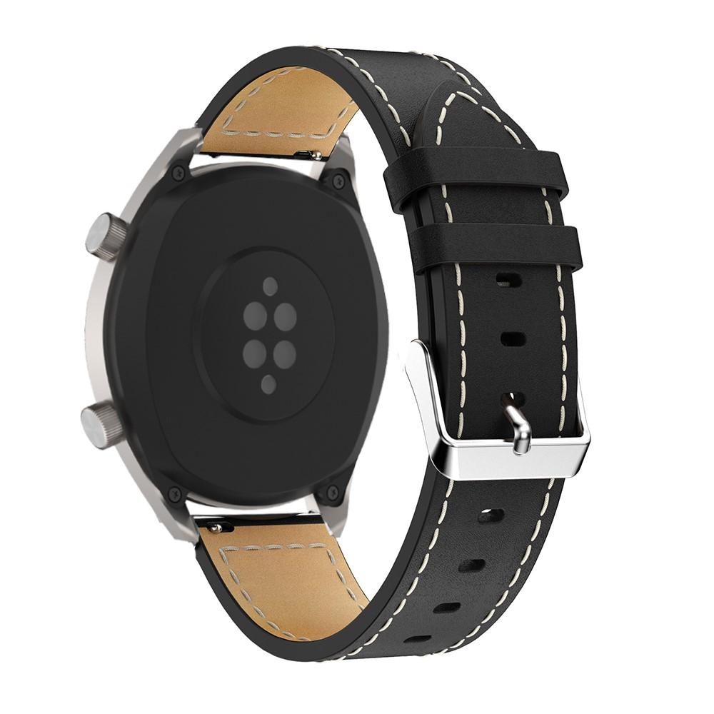 Nahkaranneke Huawei Watch GT/GT 2 46mm/GT 2e musta