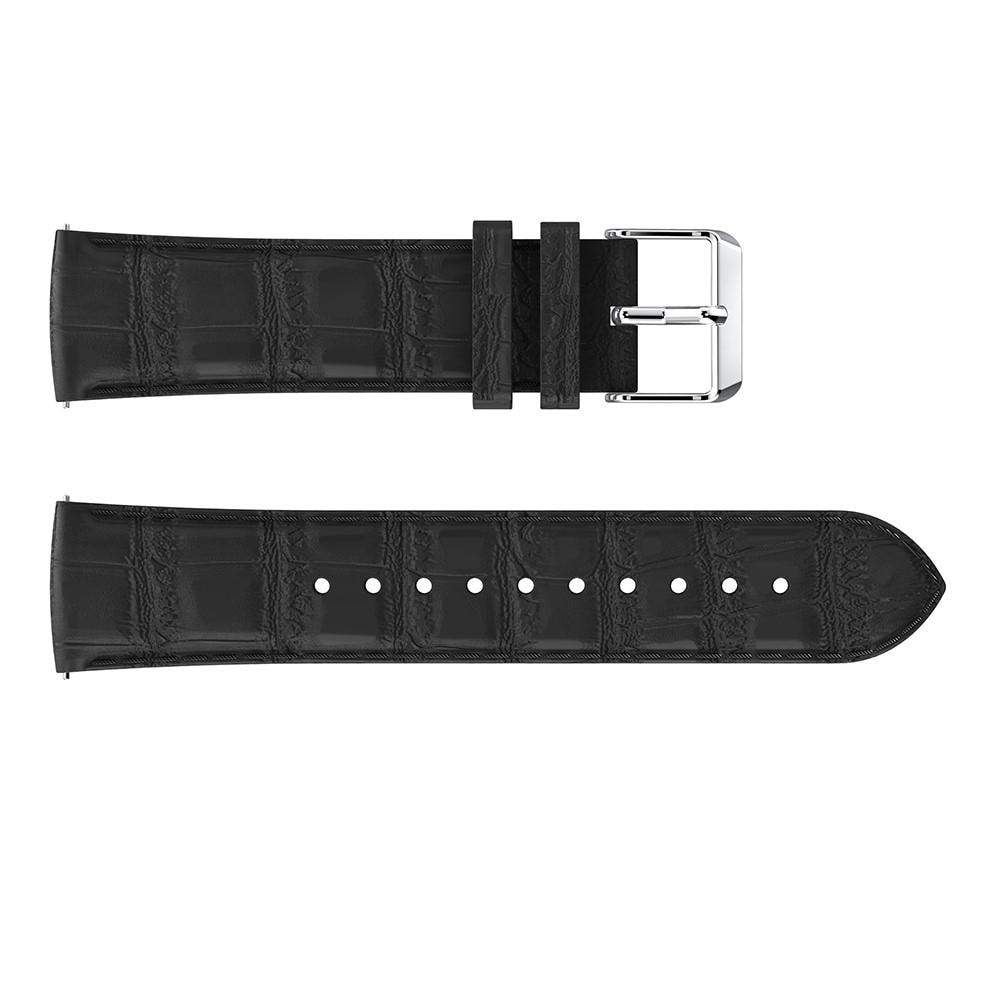 Nahkaranneke Krokodil Fitbit Versa/Versa 2 musta