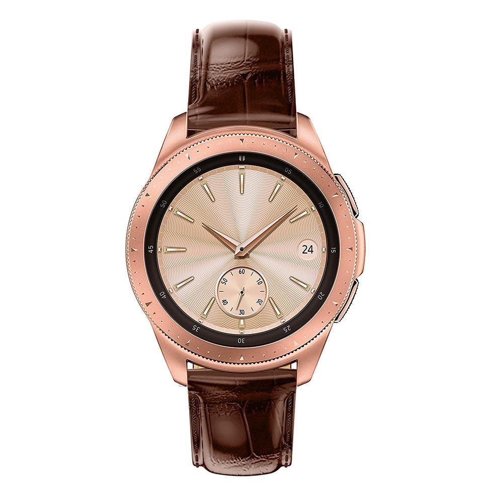 Nahkaranneke Krokodil Galaxy Watch 42mm ruskea