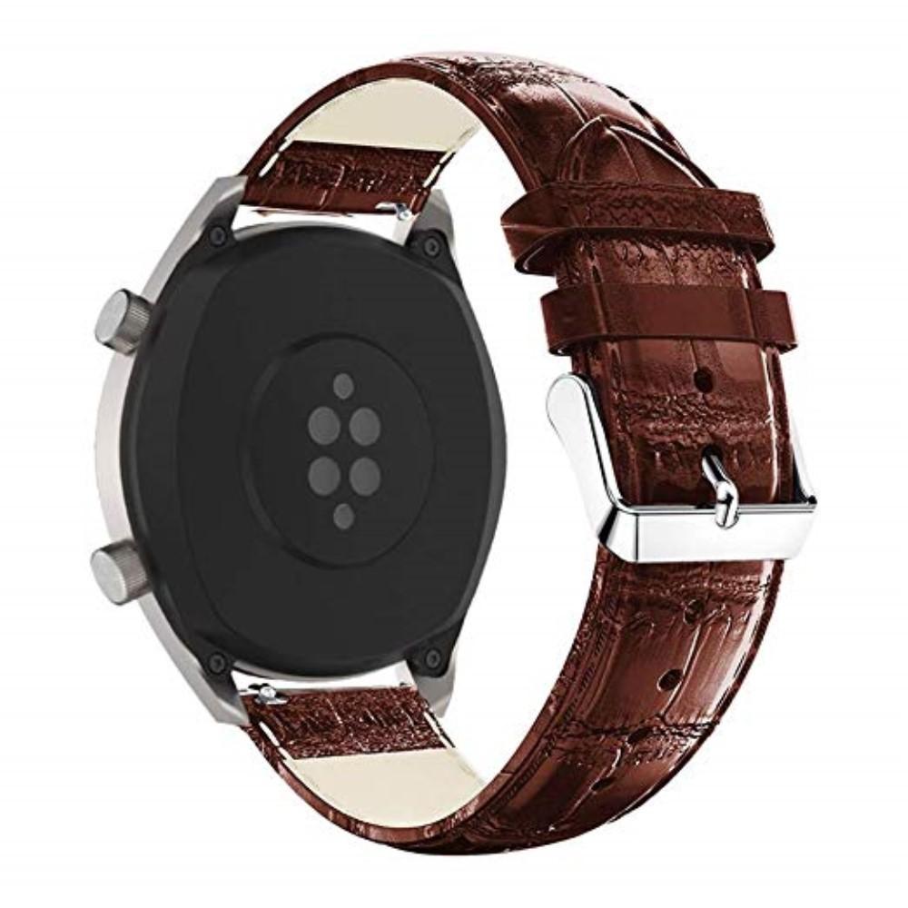 Nahkaranneke Krokodil Huawei Watch GT/GT 2 46mm/GT 2e ruskea
