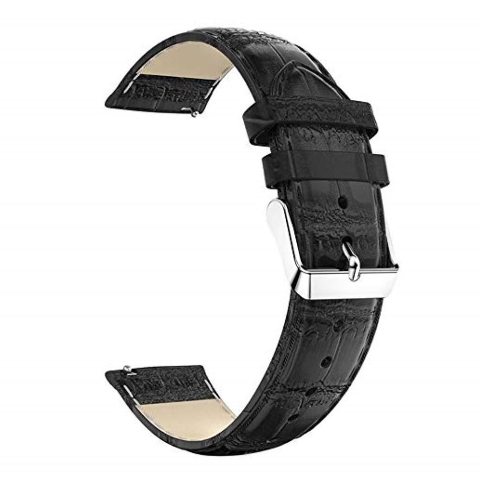 Nahkaranneke Krokodil Huawei Watch GT/GT 2 46mm/GT 2e musta