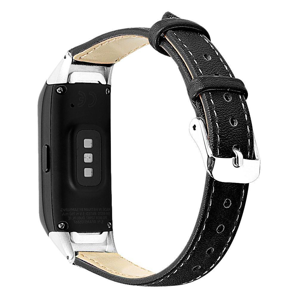 Nahkaranneke Samsung Galaxy Fit musta