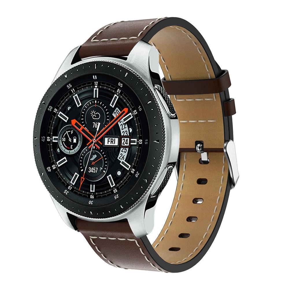 Nahkaranneke Samsung Galaxy Watch 46mm ruskea