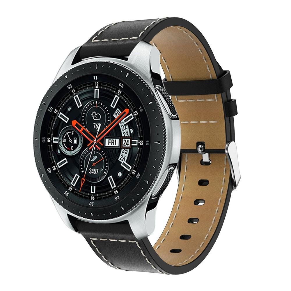 Nahkaranneke Samsung Galaxy Watch 46mm musta