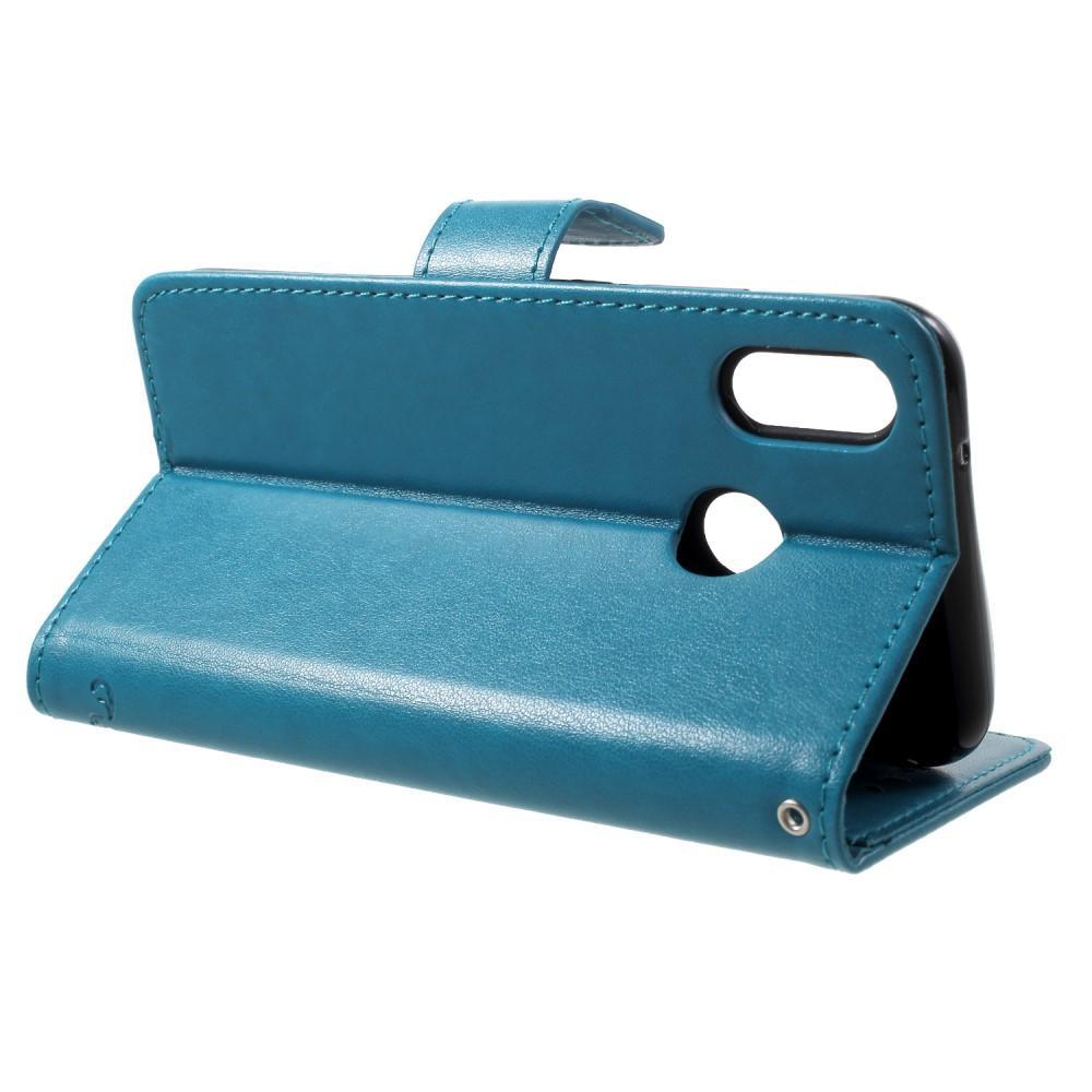 Nahkakotelo Perhonen Huawei P20 Lite sininen