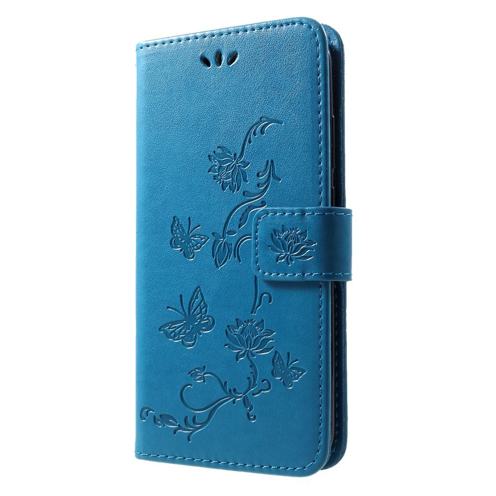 Nahkakotelo Perhonen Huawei P Smart 2019 sininen