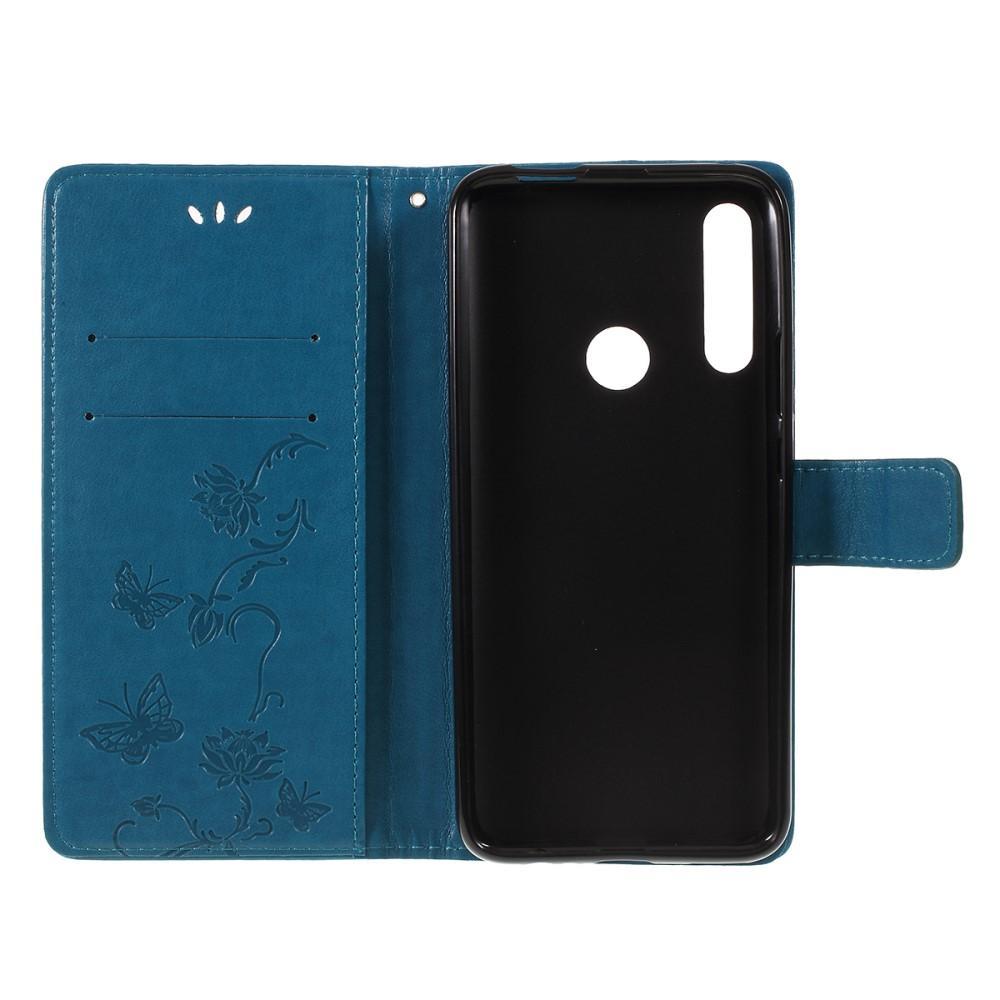 Nahkakotelo Perhonen Huawei P Smart Z sininen