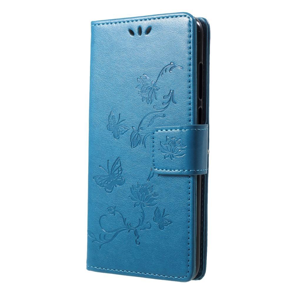 Nahkakotelo Perhonen Huawei Y6 2018 sininen