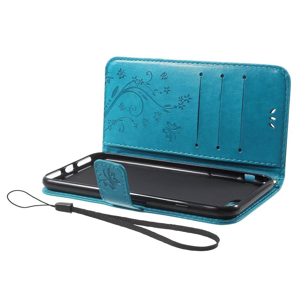 Nahkakotelo Perhonen iPhone 7 Plus/8 Plus sininen