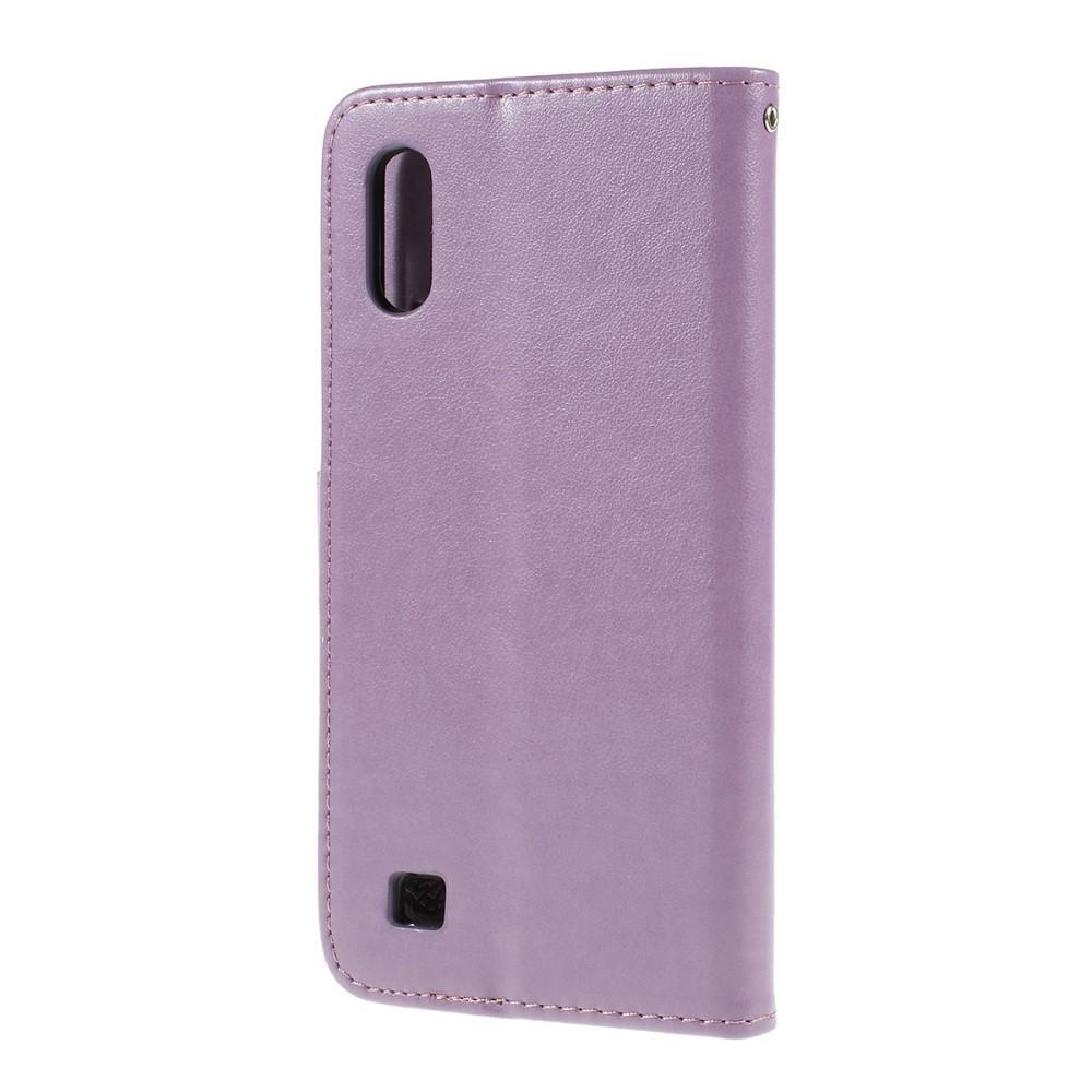 Nahkakotelo Perhonen Samsung Galaxy A10 liila